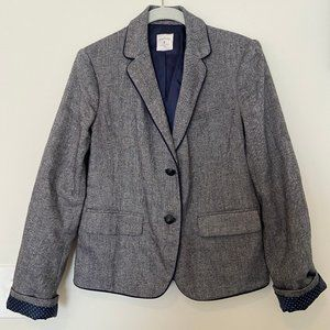Gray grey and navy Gap Academy blazer